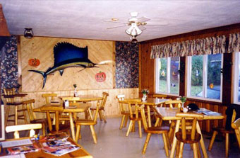 fishing lodge dining area