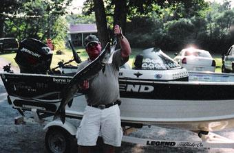 Fishing at Lake Nipissing